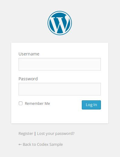 Customizing The Login Form « Wordpress Codex