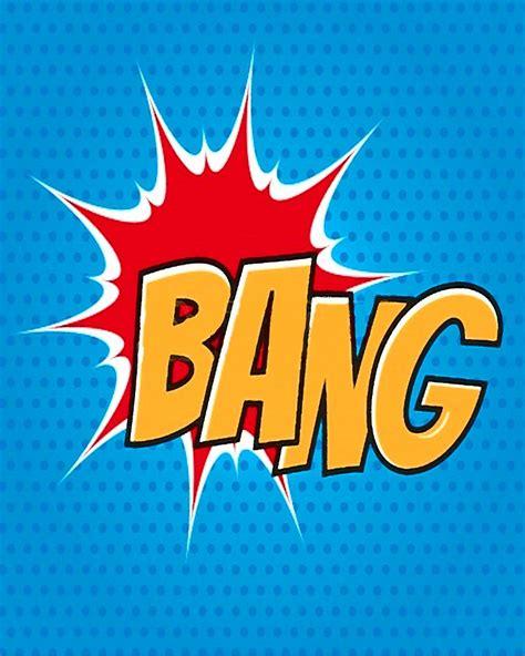 Bang Comic Style Writing Metal Pop Art Wall Sign Retro