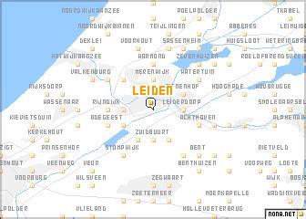 Leiden Holland Karte