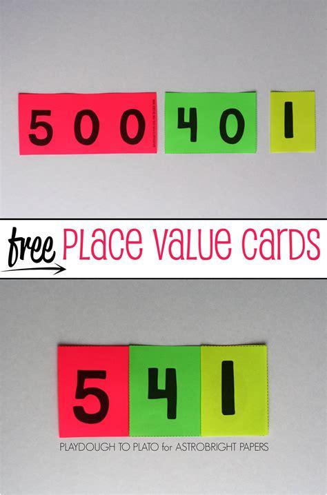 Place Value Cards #Colorize - Playdough To Plato