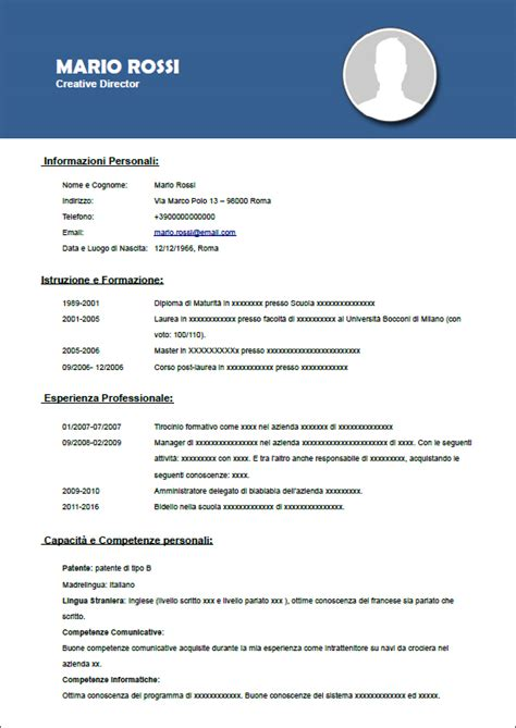 Sul Lamaran Kerja by Curriculum Vitae Una Pagina Modelo De Curriculum Vitae