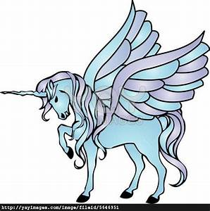 illustration of a blue unicorn with wings | Horse v ...