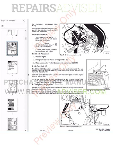 bobcat skid steer loaders 630 631 632 service manual pdf