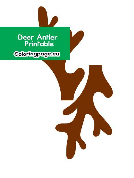 paper deer antler printable coloring page