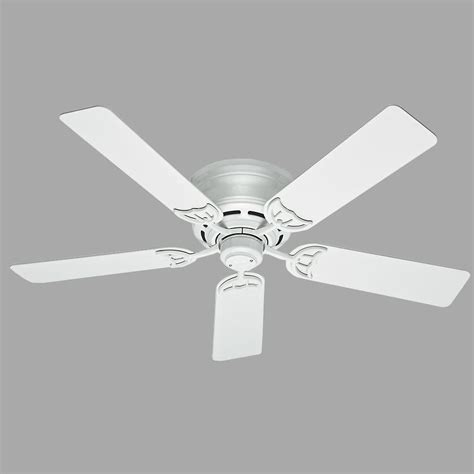 low profile white ceiling fan hunter low profile iii 52 in indoor white ceiling fan