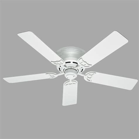 low profile white ceiling fan hunter low profile iii 52 in indoor white ceiling fan