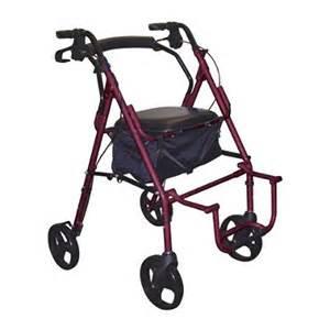 drive duet transport wheelchair chair rollator walker 795bu burgundy fsastore