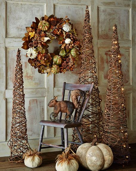 lighted grapevine cone trees  piece set