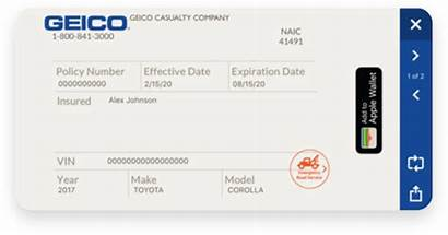 Geico Card Insurance Font Mobile Bill Cards
