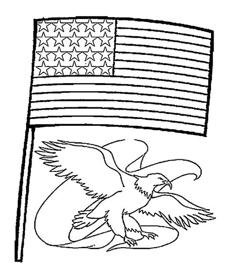 Coloring Flag by Independence Day Flags Coloring Pages For
