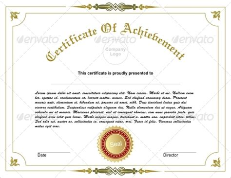 certificate  achievement template    psd