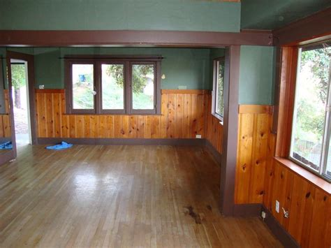 wainscoting ideas bathroom knotty pine in a craftsman home floor fireplace color