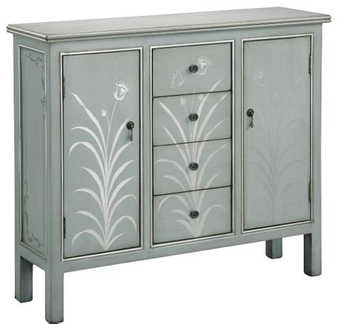 blue accent cabinet stein world selina silver blue grey accent cabinet