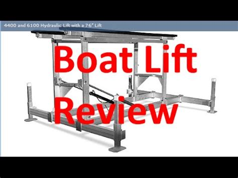 Boat Lift Float And Drop In Place by Hydraulic Boat Lift By Craftlander By Boatliftanddock