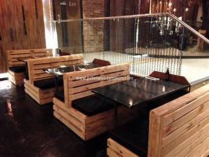 Pallet Made Restaurant Furniture Pallet Wood Projects