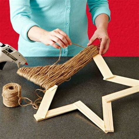 Weihnachsstern 5 Deko Bastelideen by Weihnachtssterne Form Holz Basteln Vorlagen Kinder Seil