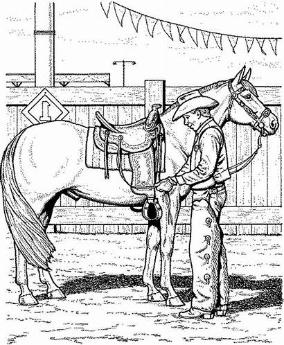Coloring Horse Cowboy Pages Stunning Printable Getcolorings