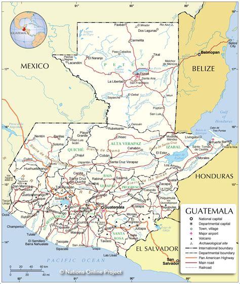 administrative map  guatemala nations  project