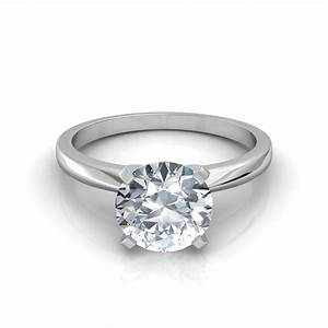 classic 4 prong solitaire engagement ring With wedding ring solitaire