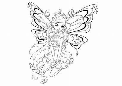 Winx Coloring Enchantix Season Club Pages Bloom