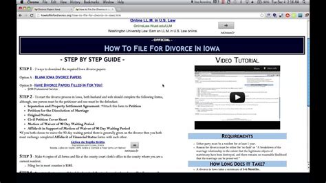 free iowa divorce papers and forms
