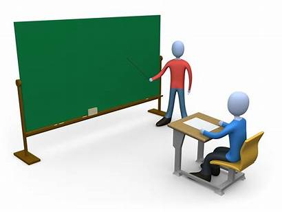 Clipart Teaching Teacher Chalkboard Student Computer Standing