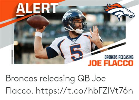 Broncos Releasing QB Joe Flacco httpstcohbFZlVt76n | Meme ...