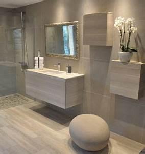 douche a l39italienne carrelage effet parquet effet With salle de bain design avec girafe décoration intérieure