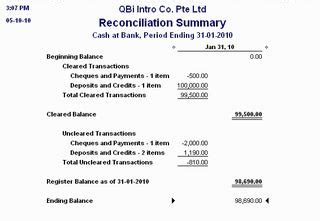 read  bank reconciliation report solarsys