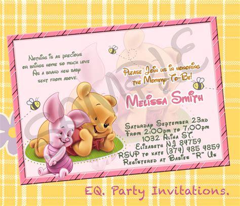 winnie the pooh baby shower invitations winnie the pooh baby shower invitation printable