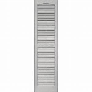 Shop vantage 2 pack paintable louvered vinyl exterior for Paintable exterior vinyl shutters