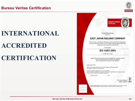 certification bureau veritas presentation for kesc