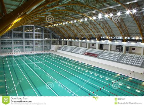 Olympic Sized Swimming Pool Stock Image
