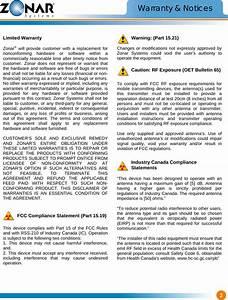 Zonar Systems Zpassh9045 Long Range Rfid Reader H9045 User