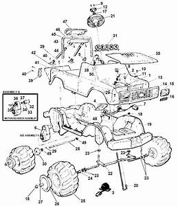 Power Wheels Monster Racing Truck Parts