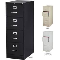 hirsh 25 inch deep 4 drawer legal size commercial vertical