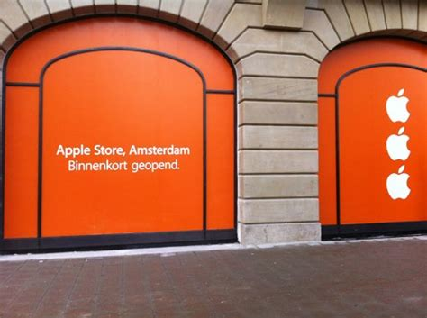 apple unveils striking new window coverings at forthcoming amsterdam store macrumors