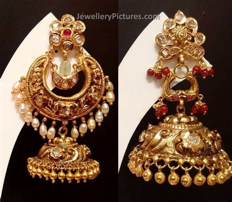 buttalu designs gold earrings jewellery designs