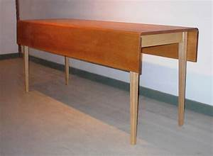 Elliptical Drop Leaf Dining Table : Handmade Furniture