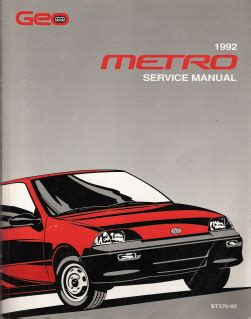 automotive repair manual 1992 geo storm engine control 1992 chevrolet geo metro factory service manual