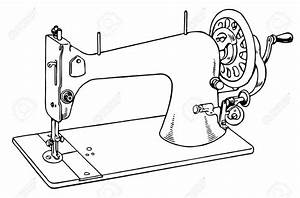Sewing Machine clipart black and white - Pencil and in ...