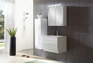 Badezimmermöbel Weiß Hochglanz : sam badezimmerm bel zagona 3tlg wei hochglanz 70 cm ~ Frokenaadalensverden.com Haus und Dekorationen