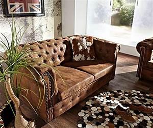 Chesterfield Sofa Wildlederoptik : 2 sitzer couch chesterfield braun 160x88 cm wildlederoptik sofa ~ Indierocktalk.com Haus und Dekorationen