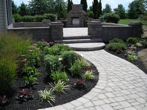 landscape landscaping ideas around patio patio border