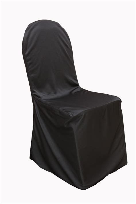 banquet black chair cover tesoro event rentals