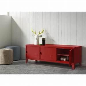 meuble tv bas rouge With meuble bas de cuisine 120 cm 5 meuble tv plasma lux laque blanc