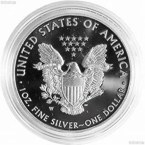 2016 w proof american silver eagle dollar in box with coa With 2016 silver eagle edge lettering