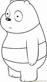 Oso Osos Mewarnai Pandas Coloringpages101 Coloringnori Dibujosonline sketch template
