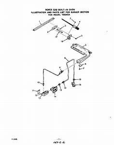 Burner Section Diagram  U0026 Parts List For Model 1053b2a