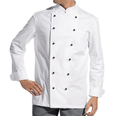 veste de cuisine manches longues 100 coton boutons boule